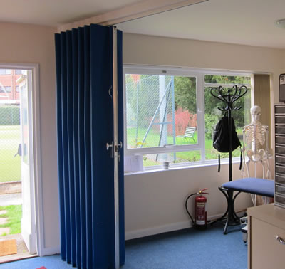 Fabric Room Dividers and Partitions - Concertina Doors