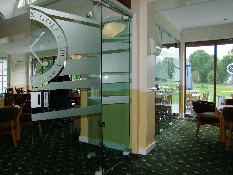 Glass door partitions 1