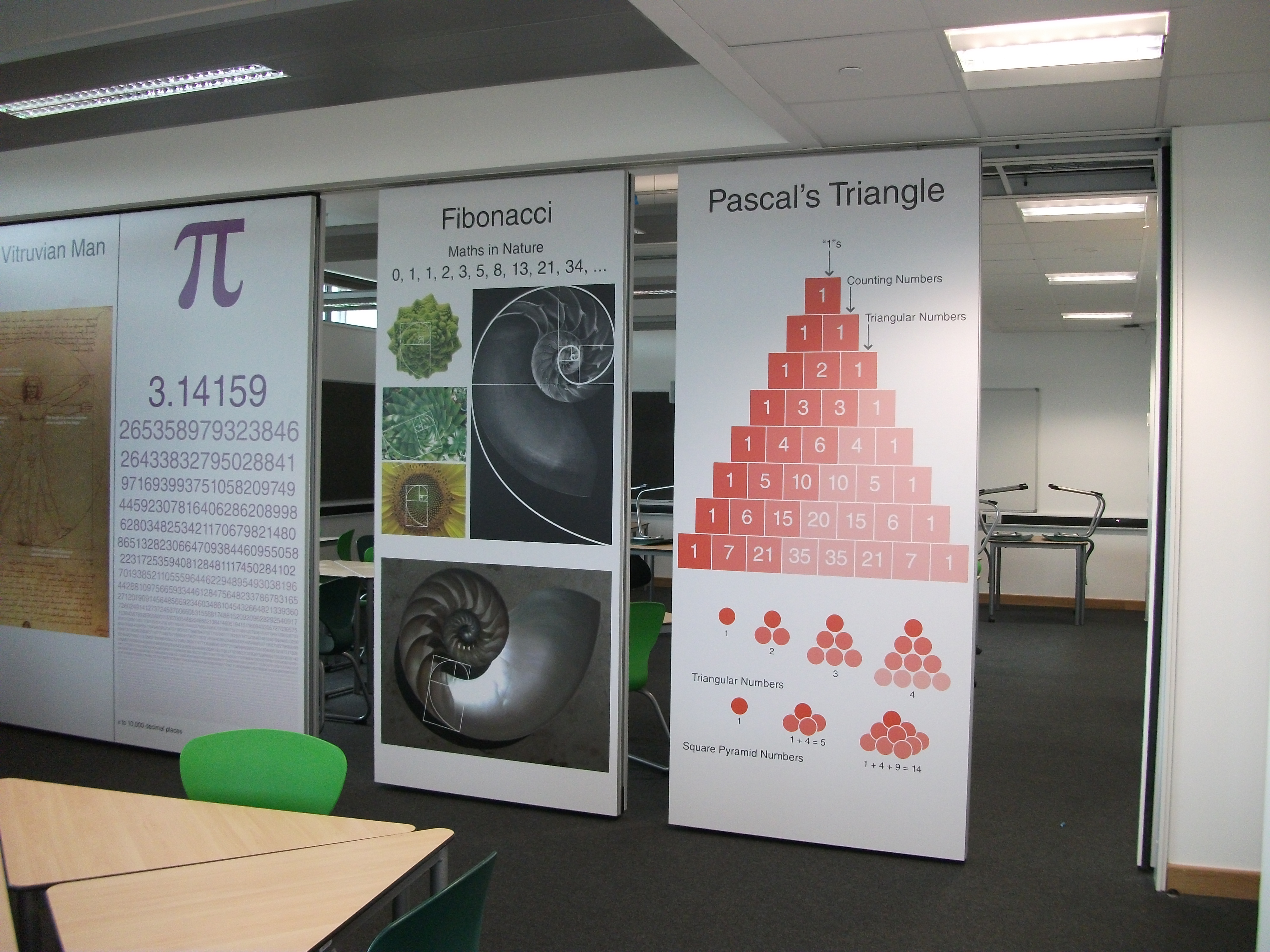 operable wall with printed graphics at somerset college installed by Building Additions