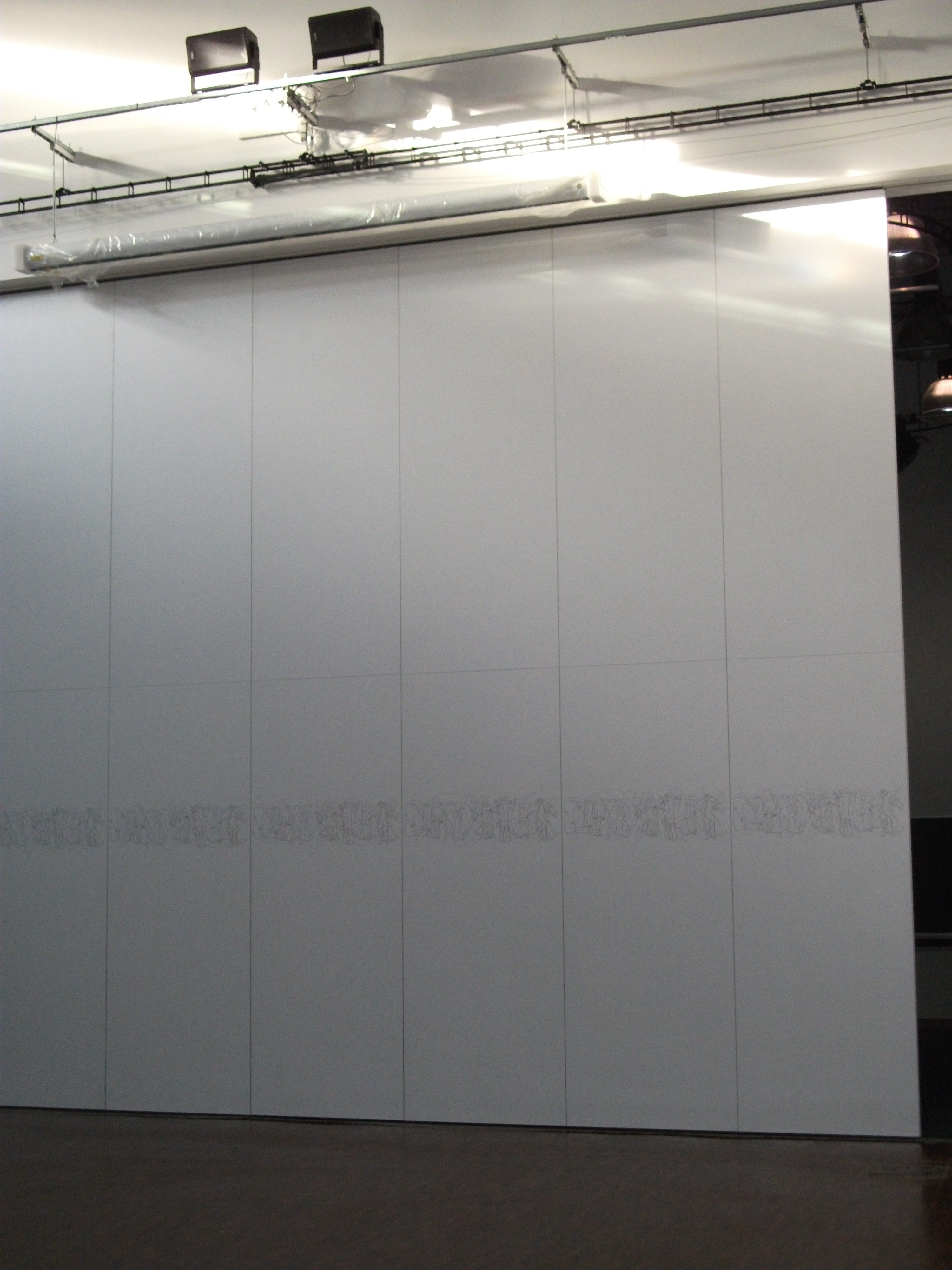 somerset college stage partition installed by Building Additions