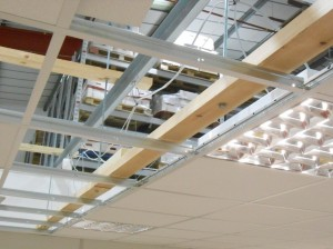 Installation of fabric partition at Thermo Scientific