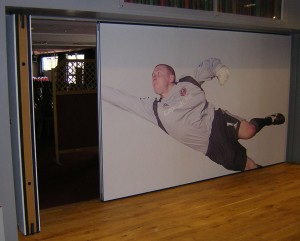 Building additions customised printed folding walls for sports club